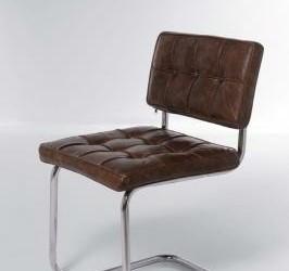 6x Amsterdam Basic Bruin Leer Bauhaus Design