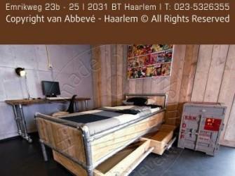 Steigerhouten Bed Met Steigerbuis Frame Excl. Lade