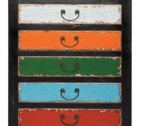 Rainbow Ladekast 120cm, uniek design vintage Kare
