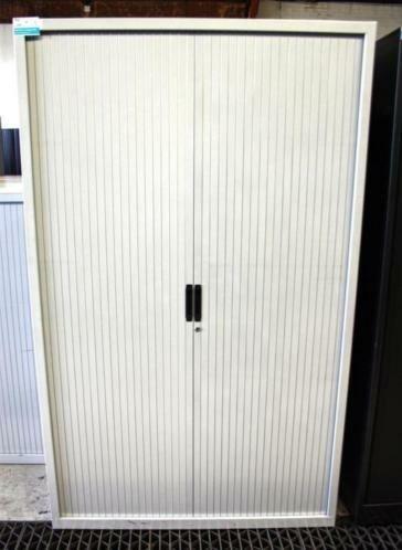 Lensvelt Roldeurkast lichtgrijs H195xB100xD45cm