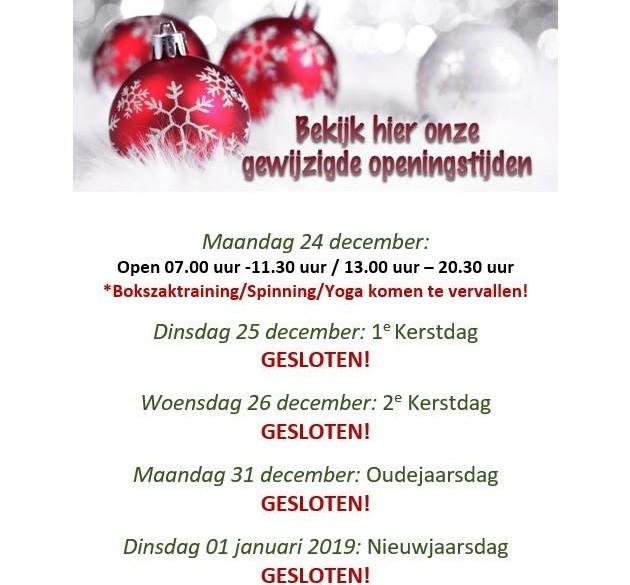 Aangepaste openingstijden Fantastic Sports Hoogeveen