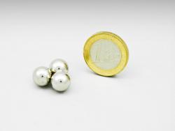 KOGELMAGNEET 10mm, neodymium, verchroomd