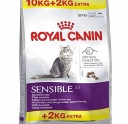 Royal Canin sensible 33 10+2 kg nu 52,95!