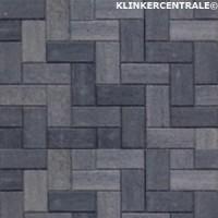 17074 NIEUWE betonklinkers grijs zwart 21x10,5x6cm bkk stra…