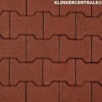 14073 NIEUWE betonklinkers rood H-klinkers 8cm dik KOMO H-p…
