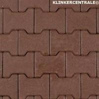 14074 NIEUWE betonklinkers paars H-klinkers 8cm dik KOMO H-…