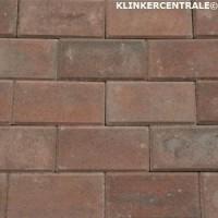 14066 NIEUWE betonklinkers rood/zwart 21x10,5x6cm bkk straa…