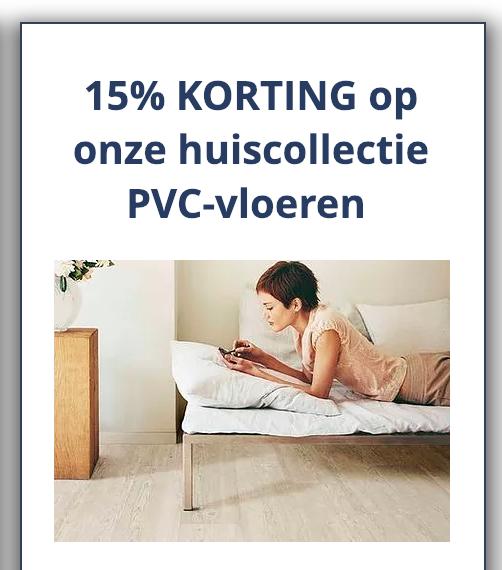 Vloer plus, 15% korting op huiscollectie PVC-vloeren