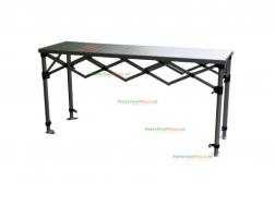 Scharniertafel / markttafel aluminium incl. rok