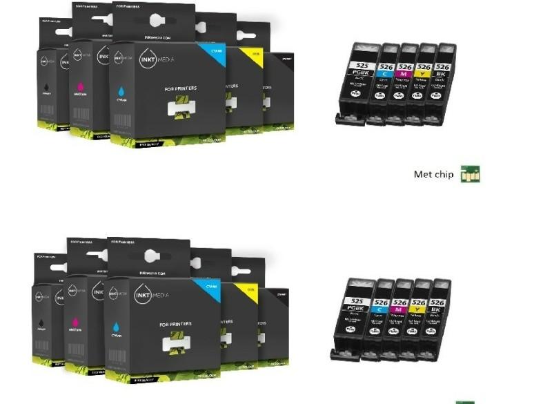 Geschikt AANBIEDING Canon pgi-525 en cli-526 serie 10X MET…