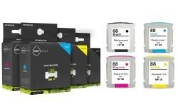 Geschikt HP 88 XL complete set inktcartridges hoge capacite…