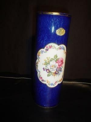 Kobaltblauwe porcelein vaas, Wagner, jr.60