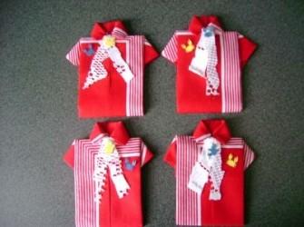 vastenavond rode zakdoek model heren overhemd