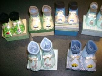 zelfgemaakte baby schoentjes