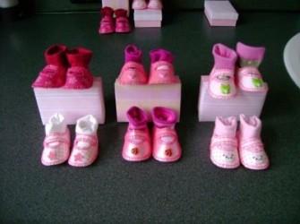 zelfgemaakte babyschoentjes (meisje)