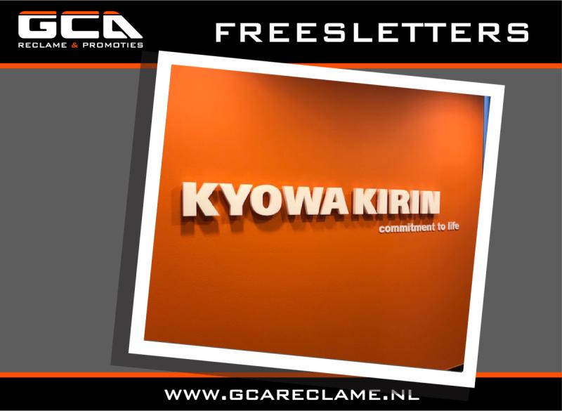 Freesletters diverse materialen bij GCA Reclame & Promoties