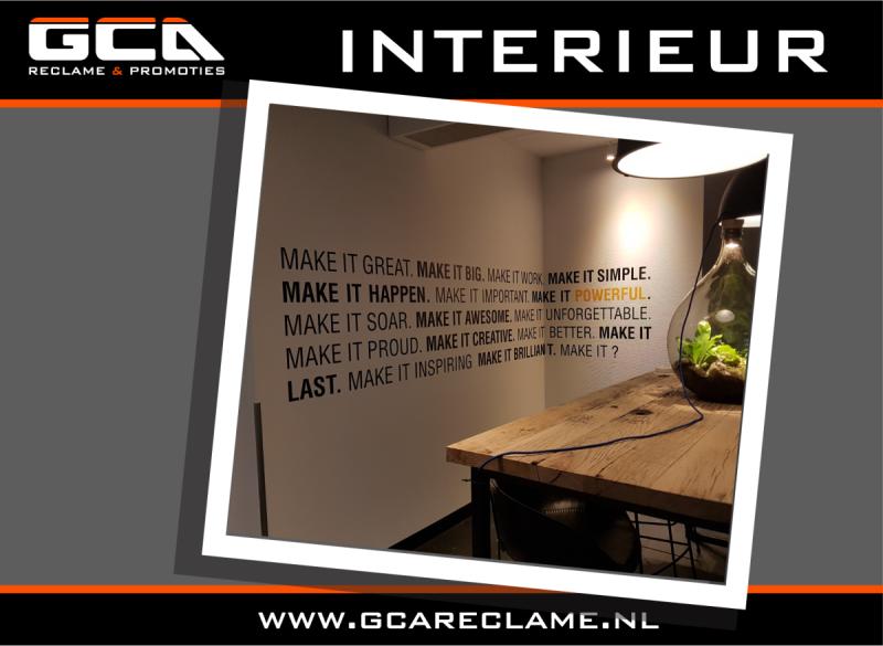 Strak nieuw interieur door GCA Reclame & Promoties