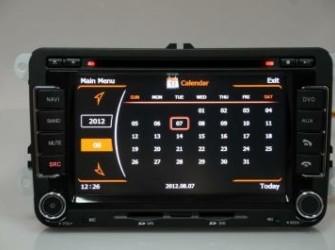 NAVIGATIE VW GOLF 5 DVD CARKIT TELEFOONBOEK WIFI