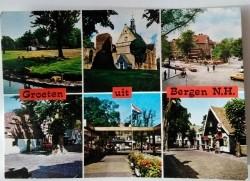 Ansichtkaart - Groeten uit Bergen (NH) - 1989