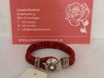 Luxe armband rood