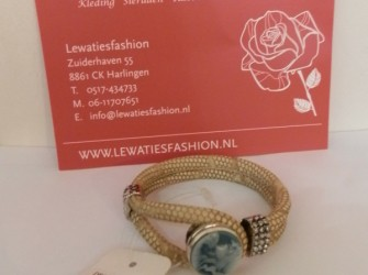 luxe armband beige print