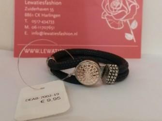 Luxe armband zwart