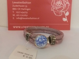 Luxe armband roze print