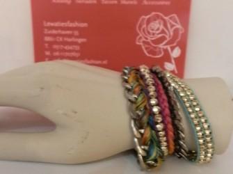 Ibiza style armband met bling