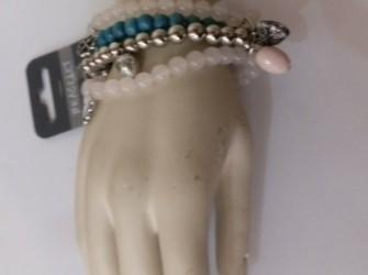 Armbandjes wit/blauw