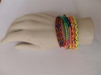 Ibiza style armband neon