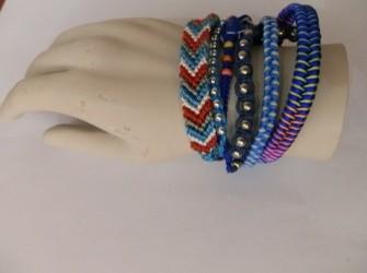 Ibiza syle armband blauw