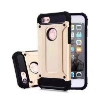 iPhone 7 Plus - Gold Plated Armor Case Cover Cas Silicone T…