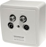 Maximum Wandcontactdoos in- en opbouw 2x SAT - RTV