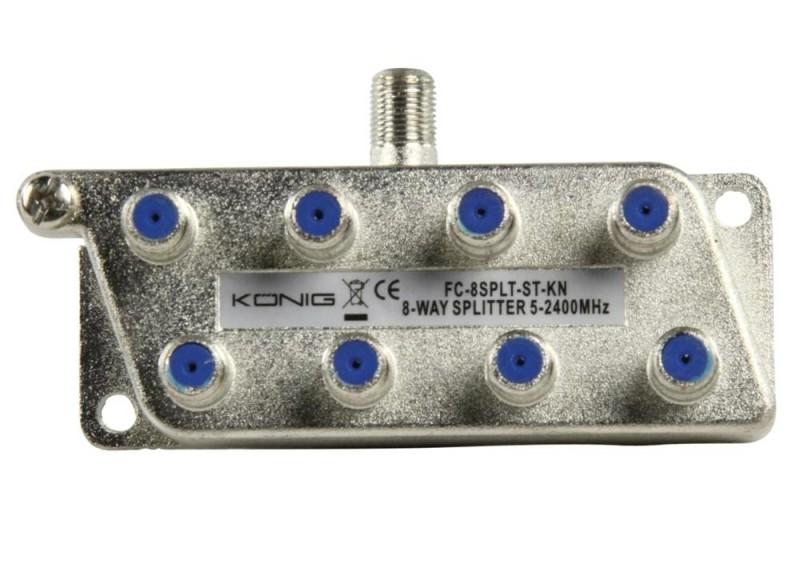 Konig signaal splitter 8 voudig 5-2400Mhz