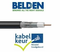Belden H125D00 coax DuoBond+ zwart