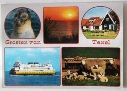 Ansichtkaart - Groeten van Texel - 1988