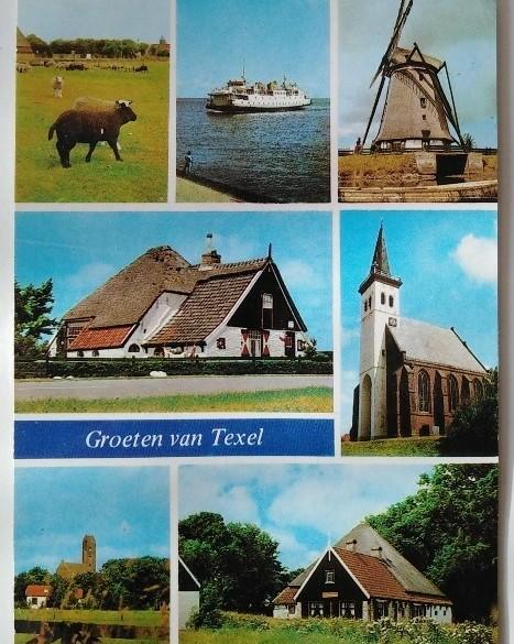 Ansichtkaart - Groeten van Texel - !988