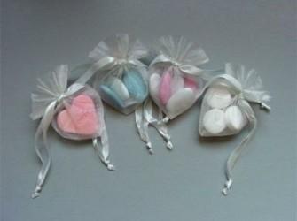 Organza hartjes zakjes in verschillende kleuren