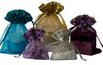 organza zakjes met rand paillettjes voor sieraden