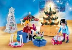 Playmobil Christmas 9495 Woonkamer in kerststijl