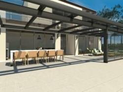 Glasoverkapping Ultraline 700 x 500 cm muuraanbouw
