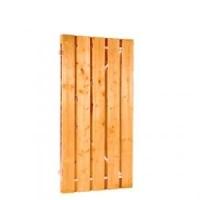 Deur grenen recht verticaal op stalen frame 90x180 cm