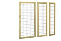 Betonijzer trellis 60 x 180 cm in kader
