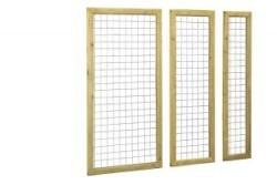 Betonijzer trellis 90 x 180 cm in kader