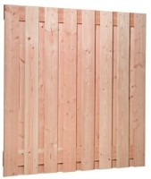 Plankenscherm Douglas 17-planks 180x180cm blank