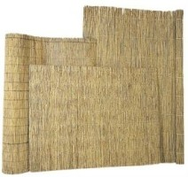 Rietmat 1,5-2 cm dik met perlondraad gevlochten 150x200cm