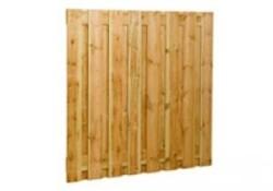 Tuinscherm recht 180 x 180 cm 13mm grenen 15-planks