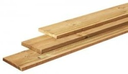Tuinplank fijnbezaagd ruw grenen 2 x 20 x 400 cm