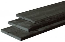 Douglas fijnbezaagde zwart geïmpregneerde plank 2,2 x 20 x…