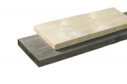 Steigerhout plank 2,8 x 19 x 500 cm donkergrijs geïmpregne…